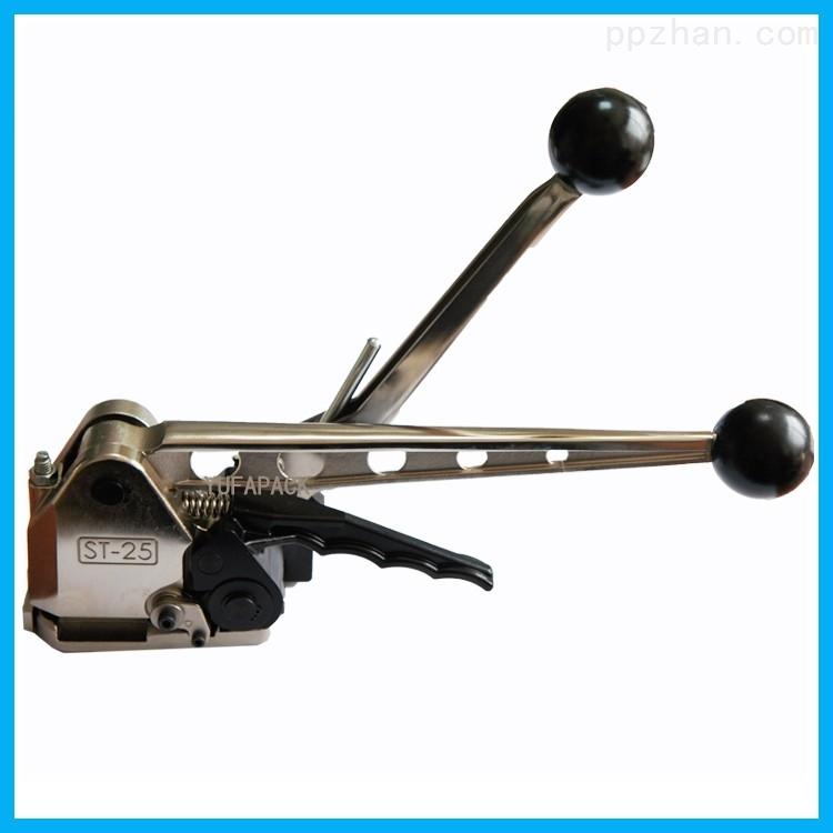 冷拉钢钢带捆包机 铝合金手动免扣打包机