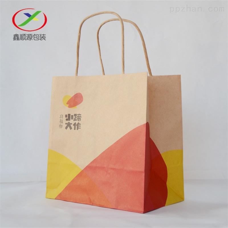 南通供应手提打包袋牛皮纸外卖打包纸袋定制