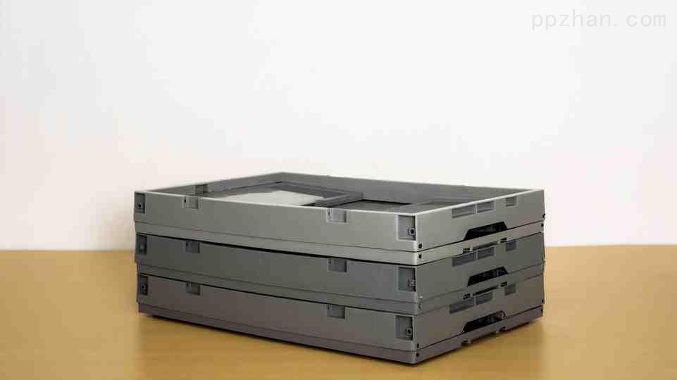苏州迅盛EU折叠箱拦腰式6433塑料箱生产供应