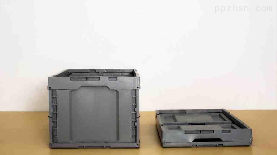 苏州迅盛EU折叠箱拦腰式4322塑料箱生产批发