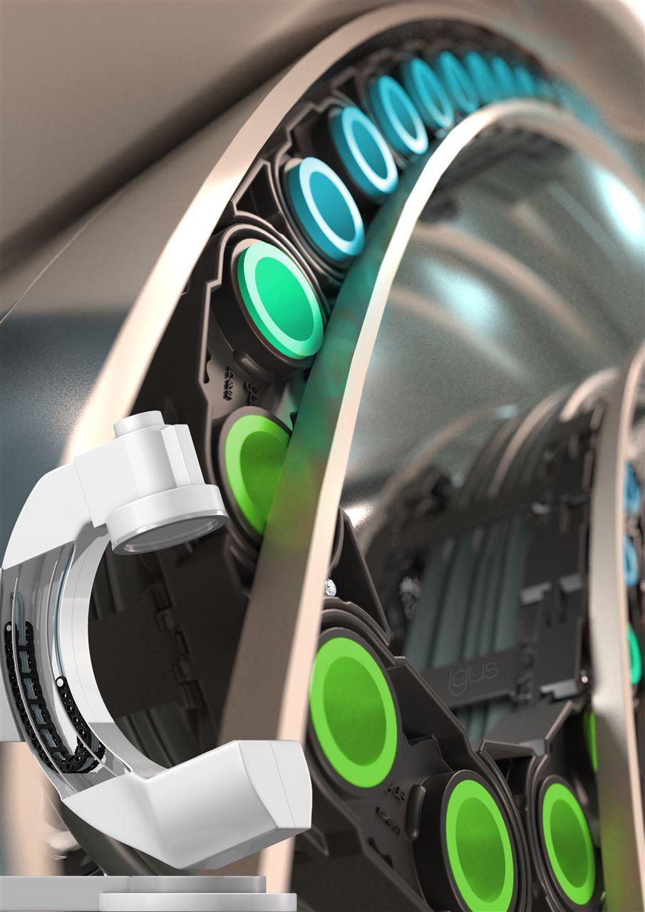 """任意方向安全引導管線:igus 新拖鏈采用""""動態銷""""設計"""