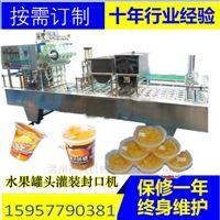 水果罐头填充机真空荔枝菠萝杯装灌装封口机
