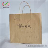 环保牛皮纸手提袋方底外卖打包袋常州厂家